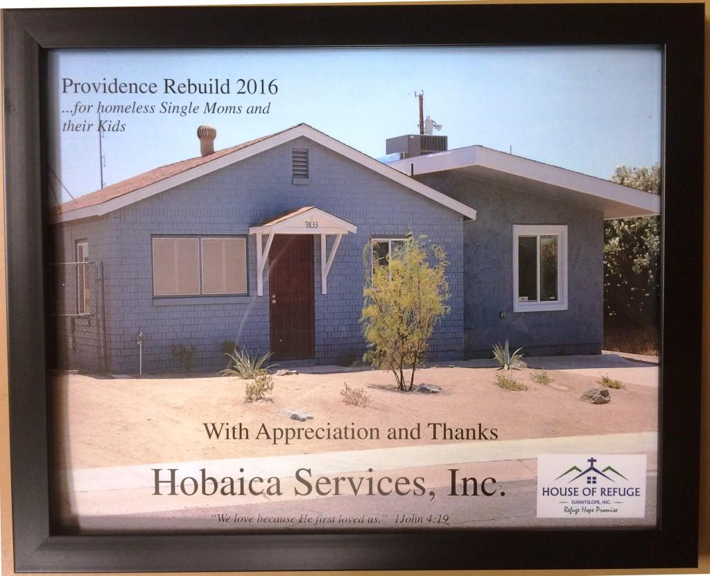 Hobaica Services Phoenix Providence Rebuild Project 2016