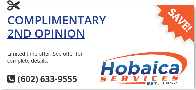 Not sure about the information or quote you received from another company? Call Hobaica Services and get a complimentary quote.